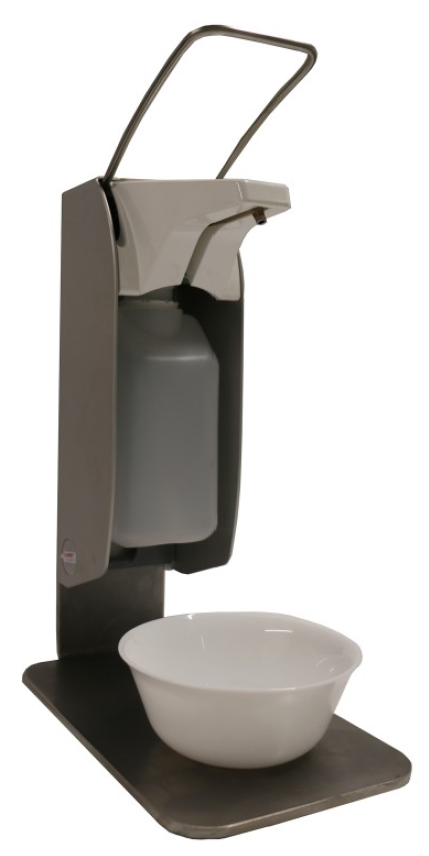 Hygienesäule für Tisch - Manuell (Made in Germany)