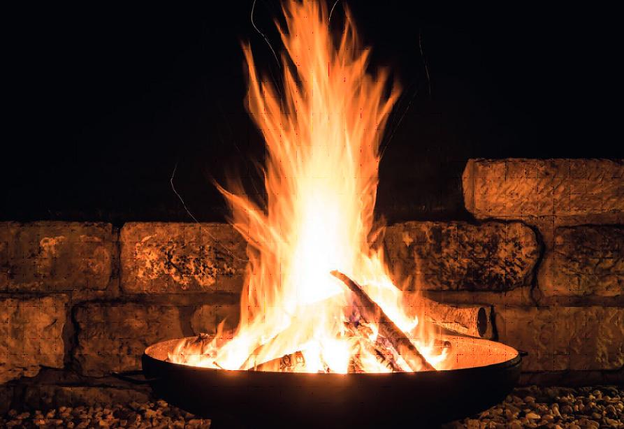 Feuerschale mit Ø 1000 aus 3 mm Stahlblech
